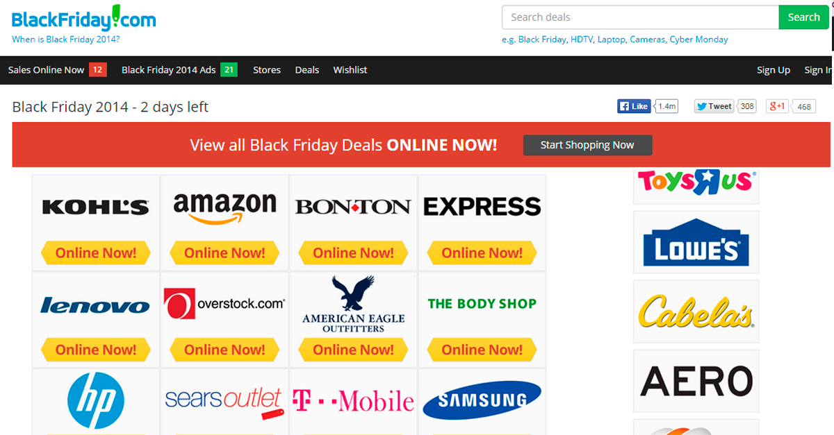BlackFriday.com, todas las ofertas del Black Friday en un solo portal